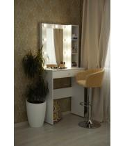 """Туалетный столик """"Елена"""" 80х100 с зеркалом 80х60 и стеллажом"""